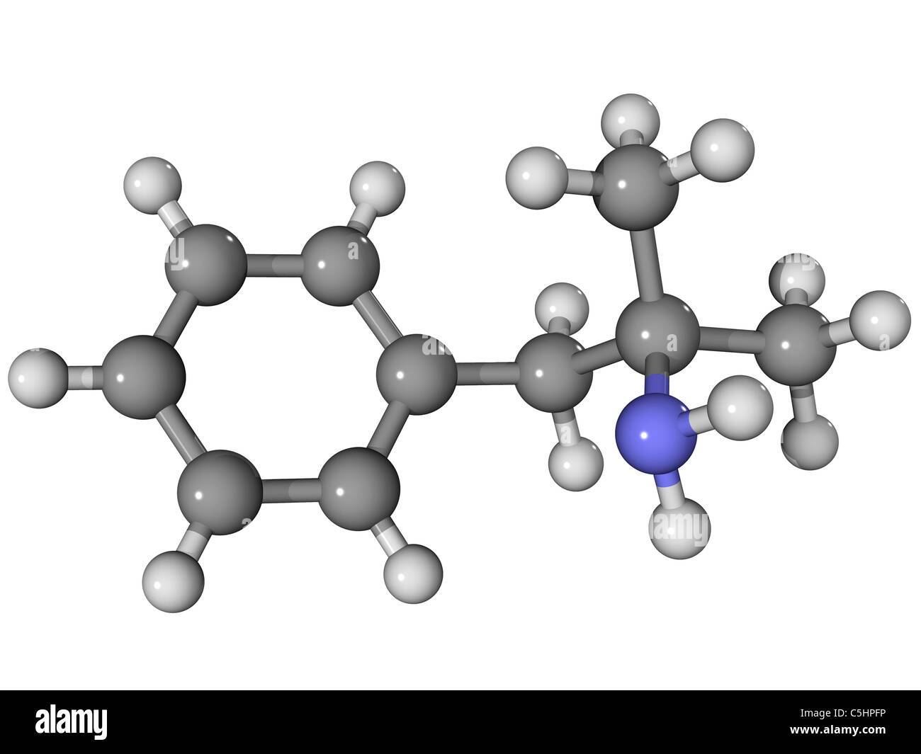 Phentermine appetite suppressant molecule - Stock Image