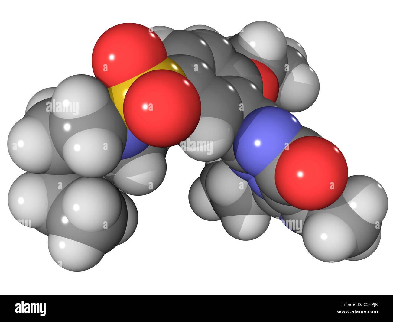 Vardenafil erectile dysfunction drug - Stock Image