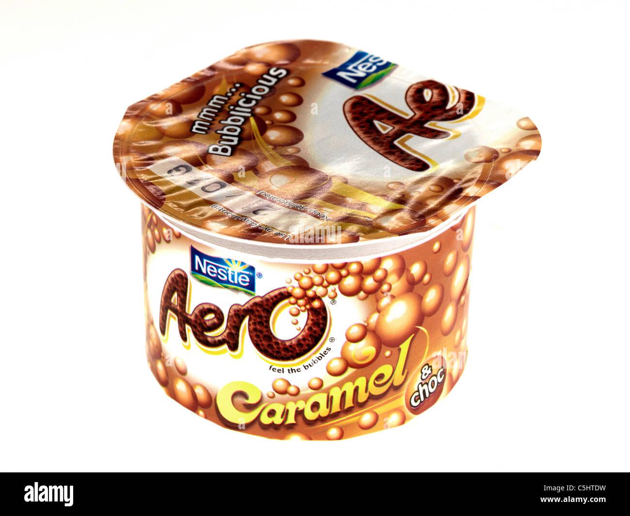 Aero Caramel Chocolate Desserts - Stock Image
