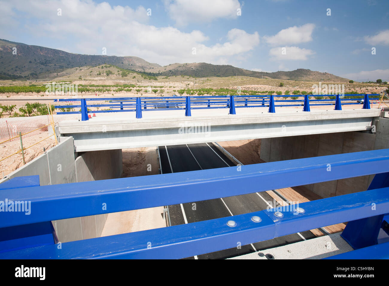 A new road being constructed in Andalucia, Spain. - Stock Image