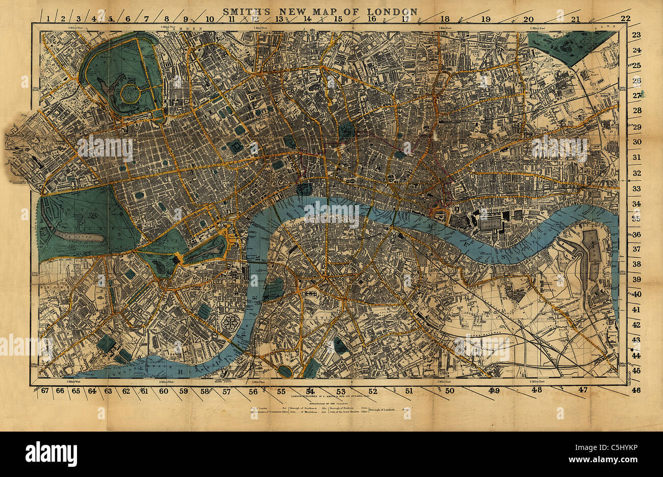 Old Map Of London Stock Photos & Old Map Of London Stock Images - Alamy