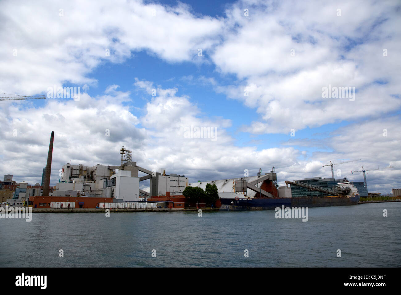 capt henry jackman lake bulk carrier docked at the quay at redpath sugar refinery toronto ontario canada - Stock Image