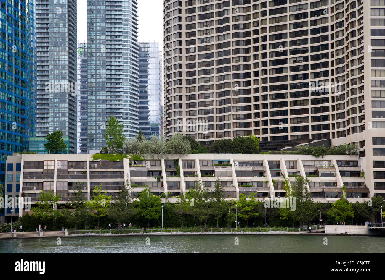 condo and apartment buildings on harbourfront toronto ontario canada - Stock Image