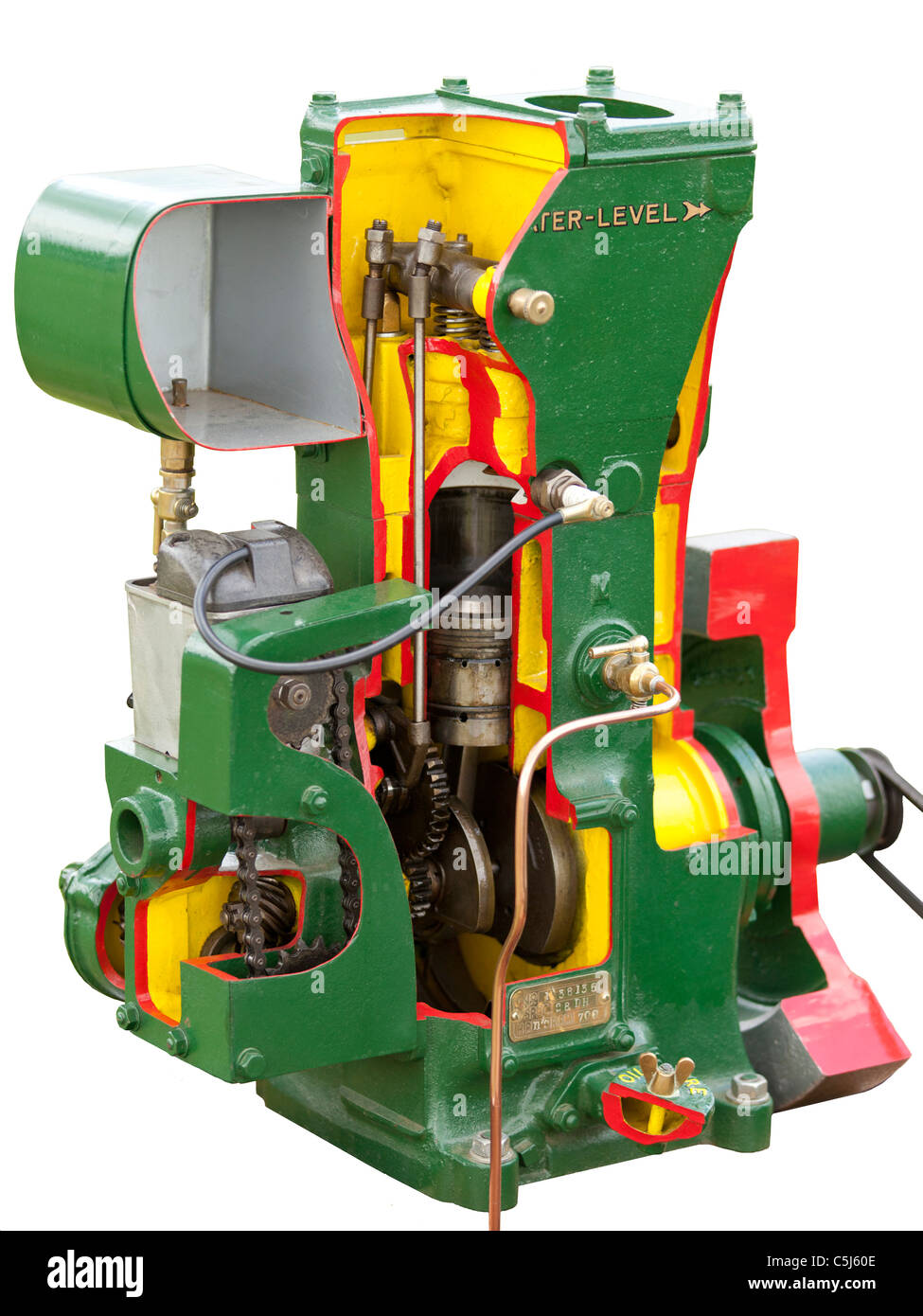 Cut away section of Lister D Type Stationary Diesel Engine Stock Photo -  AlamyAlamy