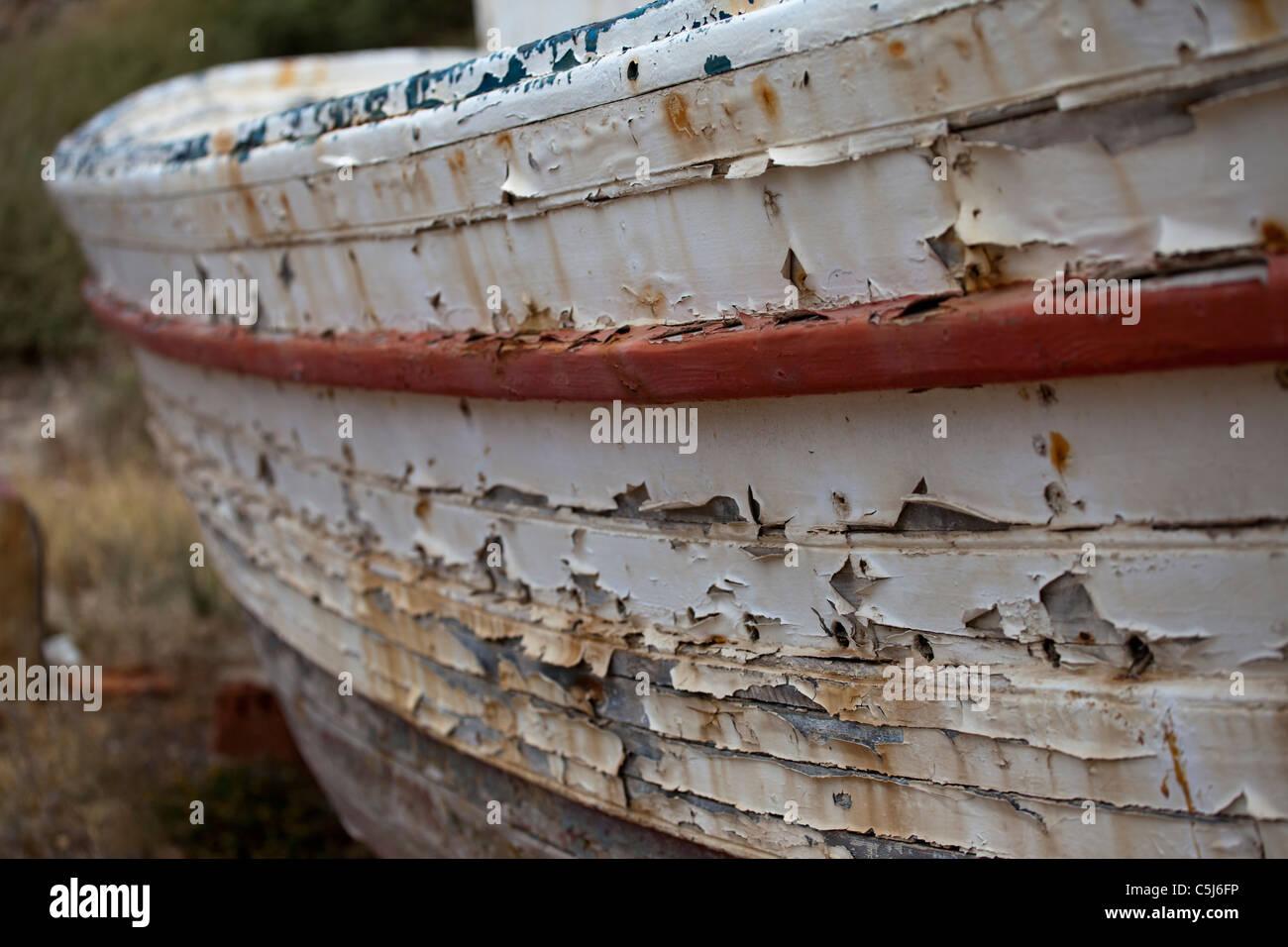 Decrepit Boat Hull Stock Photo