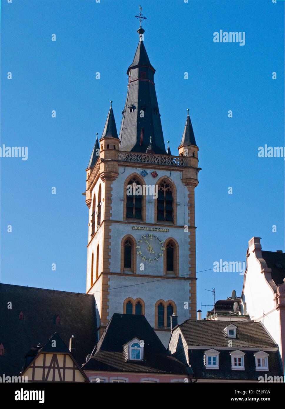 Marktkirche St. Gangolph, am Hauptmarkt von Trier, Market church, Saint, Gangolph, at the main market - Stock Image