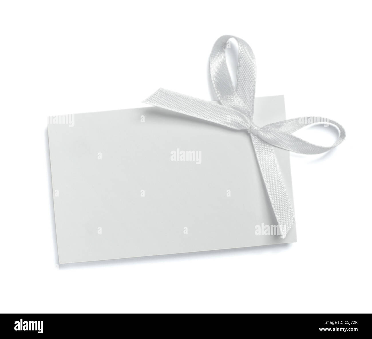 note with ribbon - Stock Image