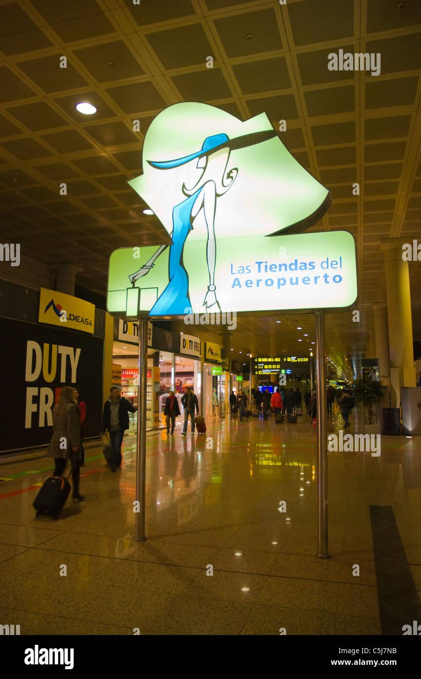 El Prat airport T2 A terminal Barcelona Catalunya Spain Europe - Stock Image