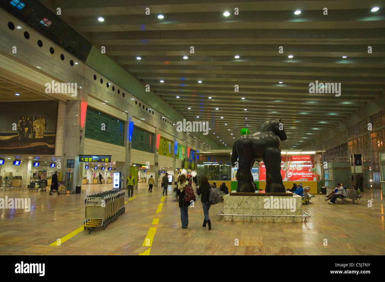 El Prat airport T2 terminal Barcelona Catalunya Spain Europe - Stock Image