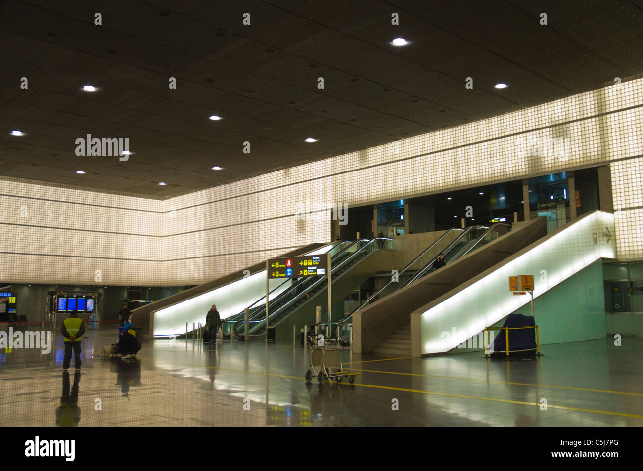 El Prat airport T2 terminal Barcelona Catalunya Spain Europe Stock Photo