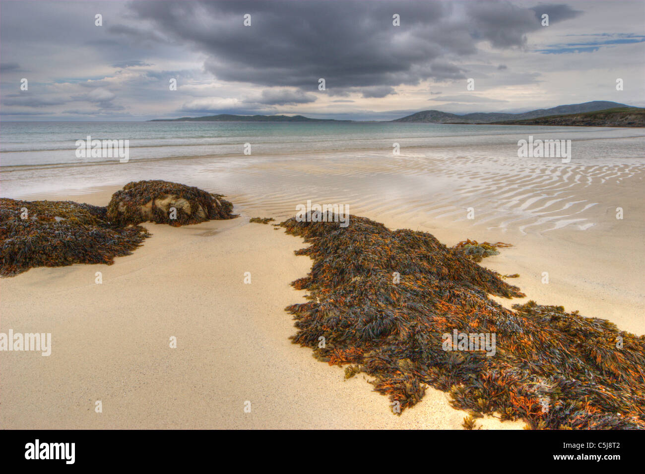 Horgabost Beach on the Isle of Harris, Outer Hebrides - Stock Image