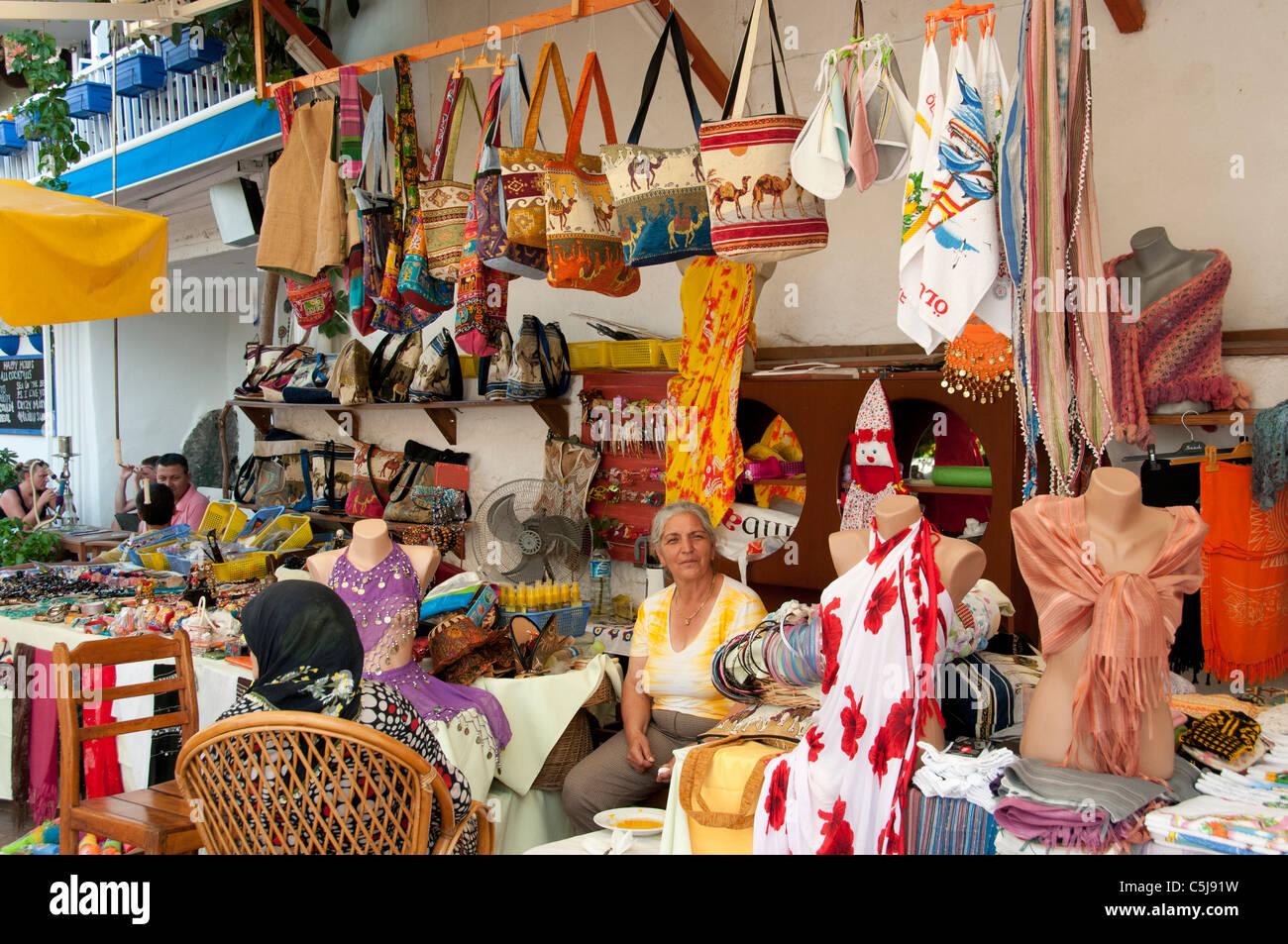 Fethiye Turkey Turkish Market Bazaar Fashion Bag Bags - Stock Image