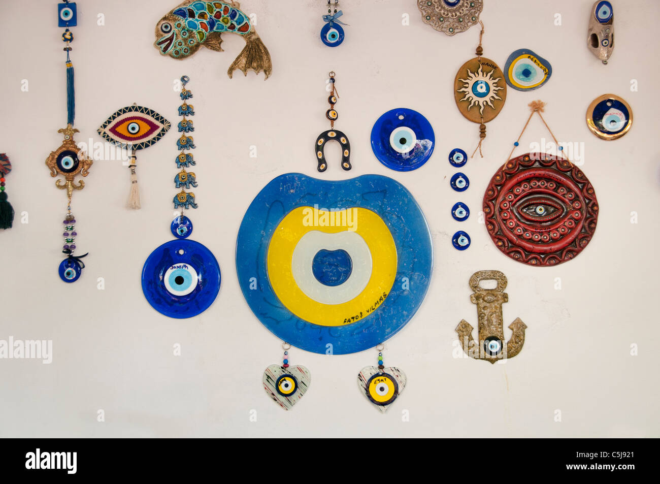 Fethiye Turkey necklace beads chain  Market Bazaar - Stock Image