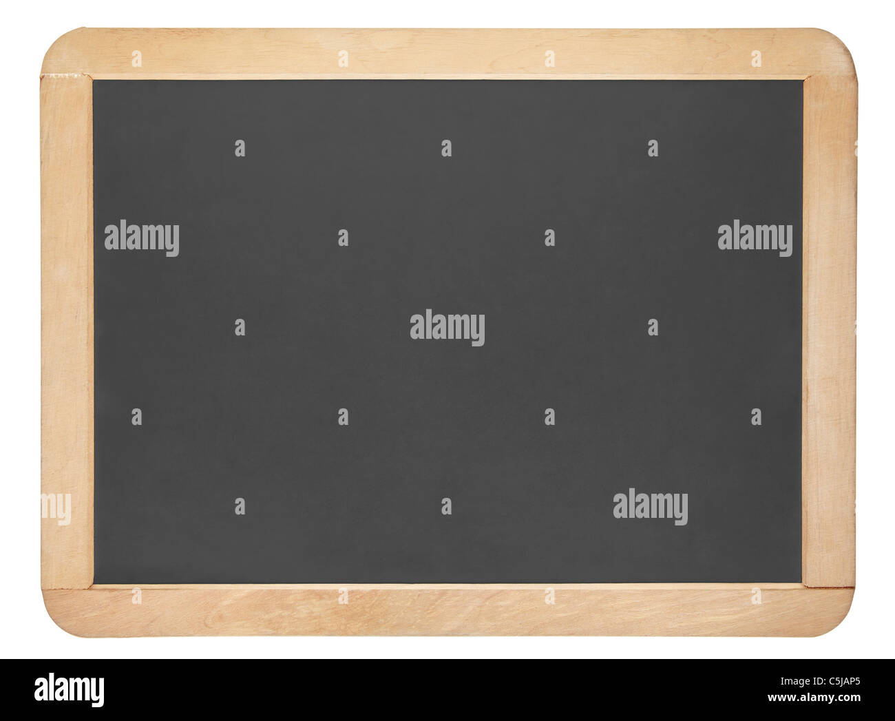 Small blackboard isolated on white, clipping path included Stock Photo