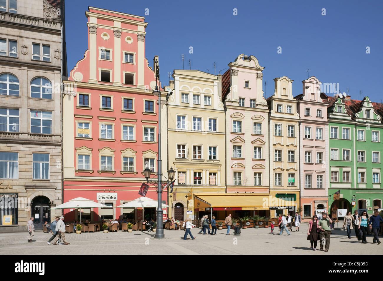 Marktplatz von Breslau | Wroclaw market square - Stock Image