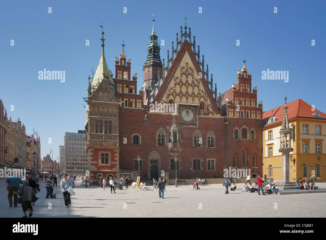 Rathaus Breslau | Wroclaw guildhall - Stock Image