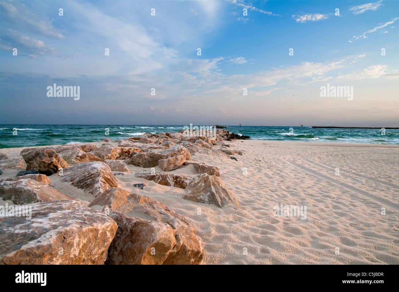 A scene from the Alabama Gulf Coast. - Stock Image