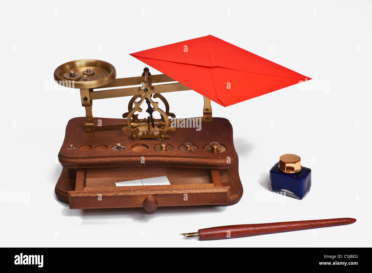 Briefwaage | letter balance - Stock Image