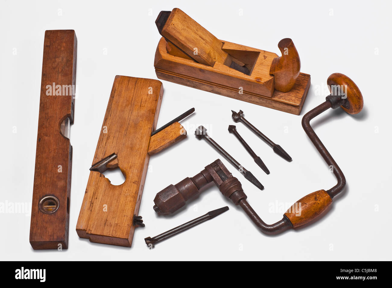 Old Woodworking Tools Stock Photos Old Woodworking Tools Stock