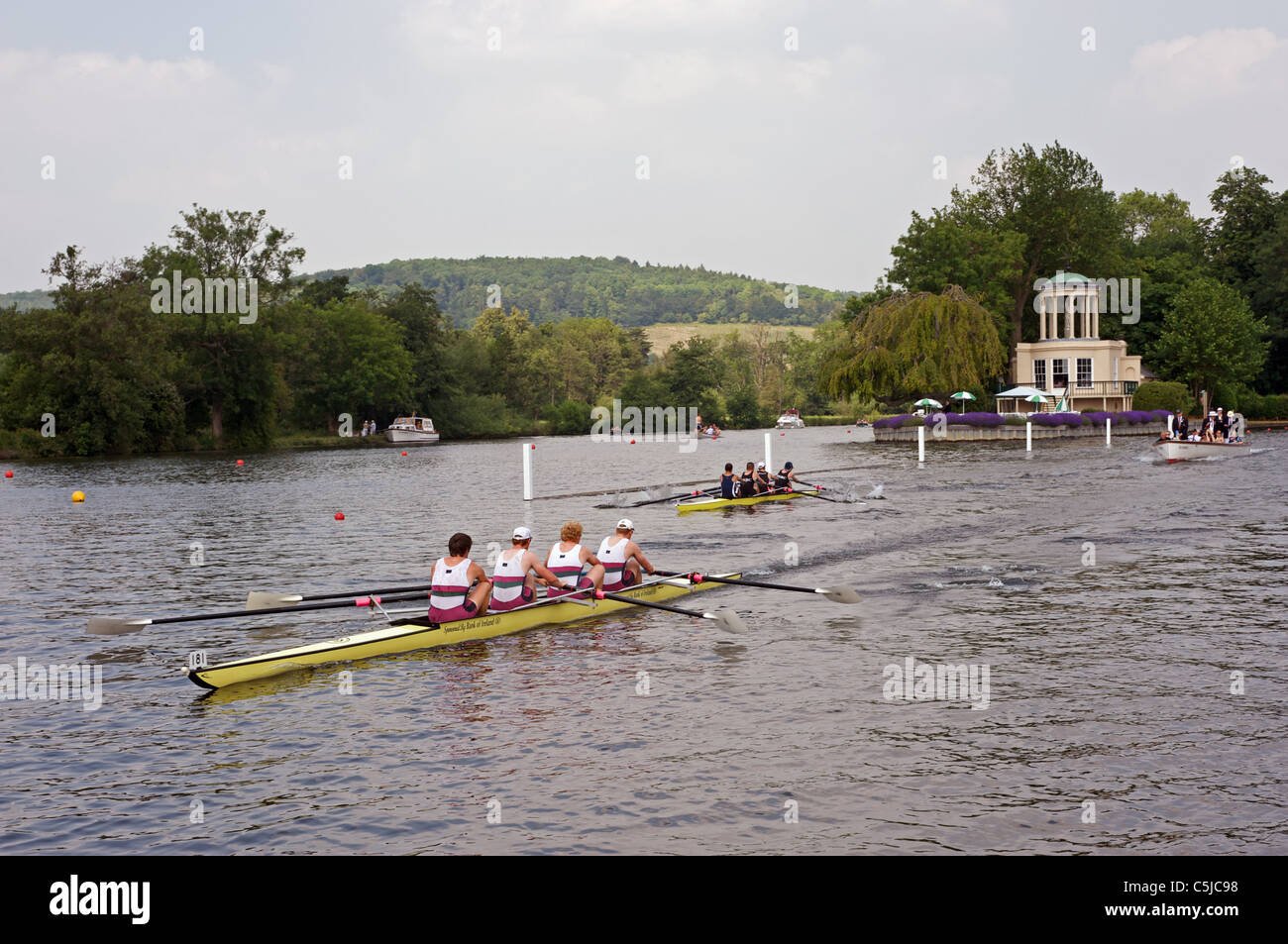 Henley Royal Regatta, Henley-on-Thames, Oxfordshire, UK. - Stock Image