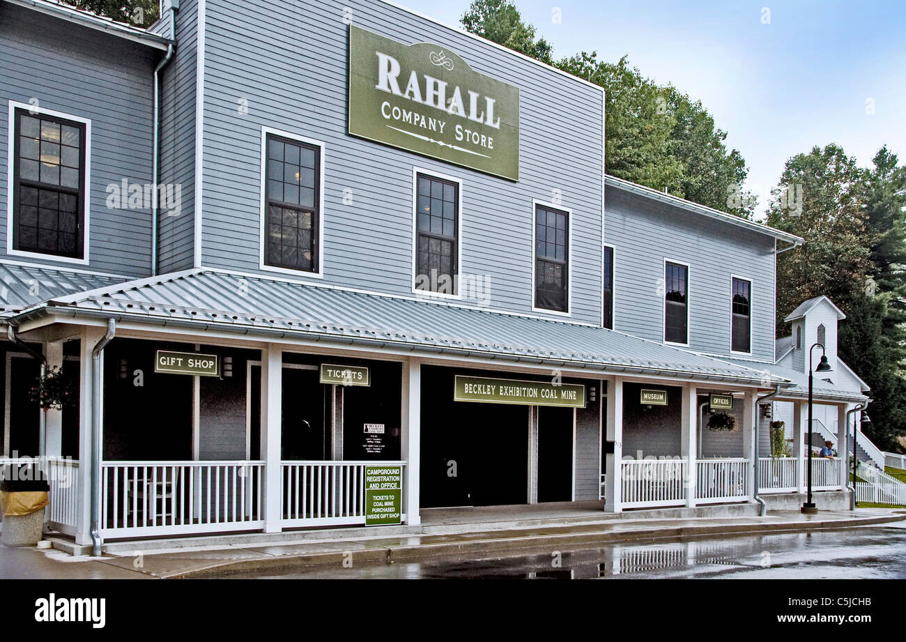 The  Rahall Country Store and museum at the Beckley Exhibition Coal Mine in Beckley, West Virginia Stock Photo