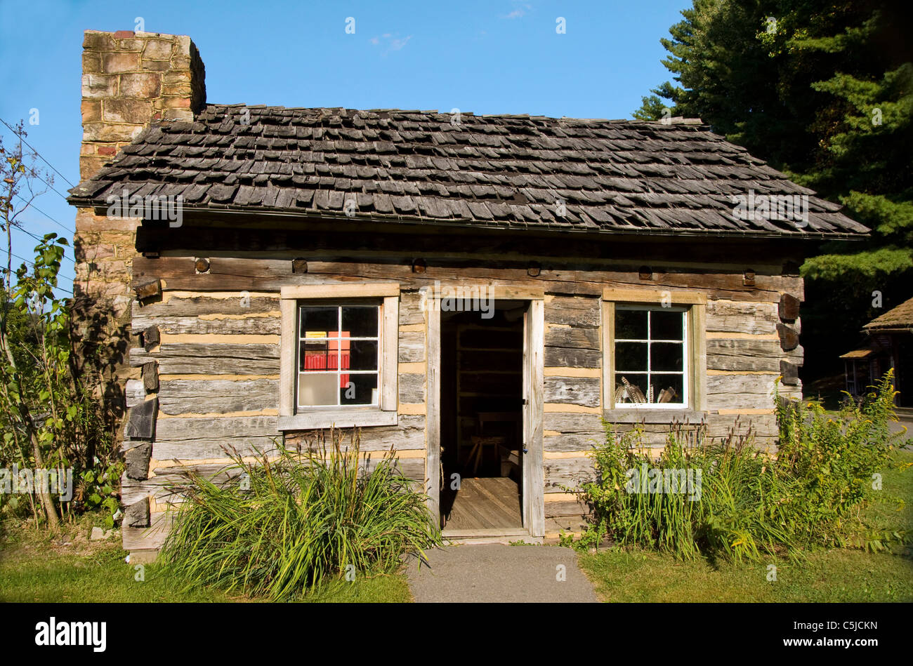 The Coal Camp Cabin at the Beckley Exhibition Coal Mine in Beckley, West Virginia - Stock Image