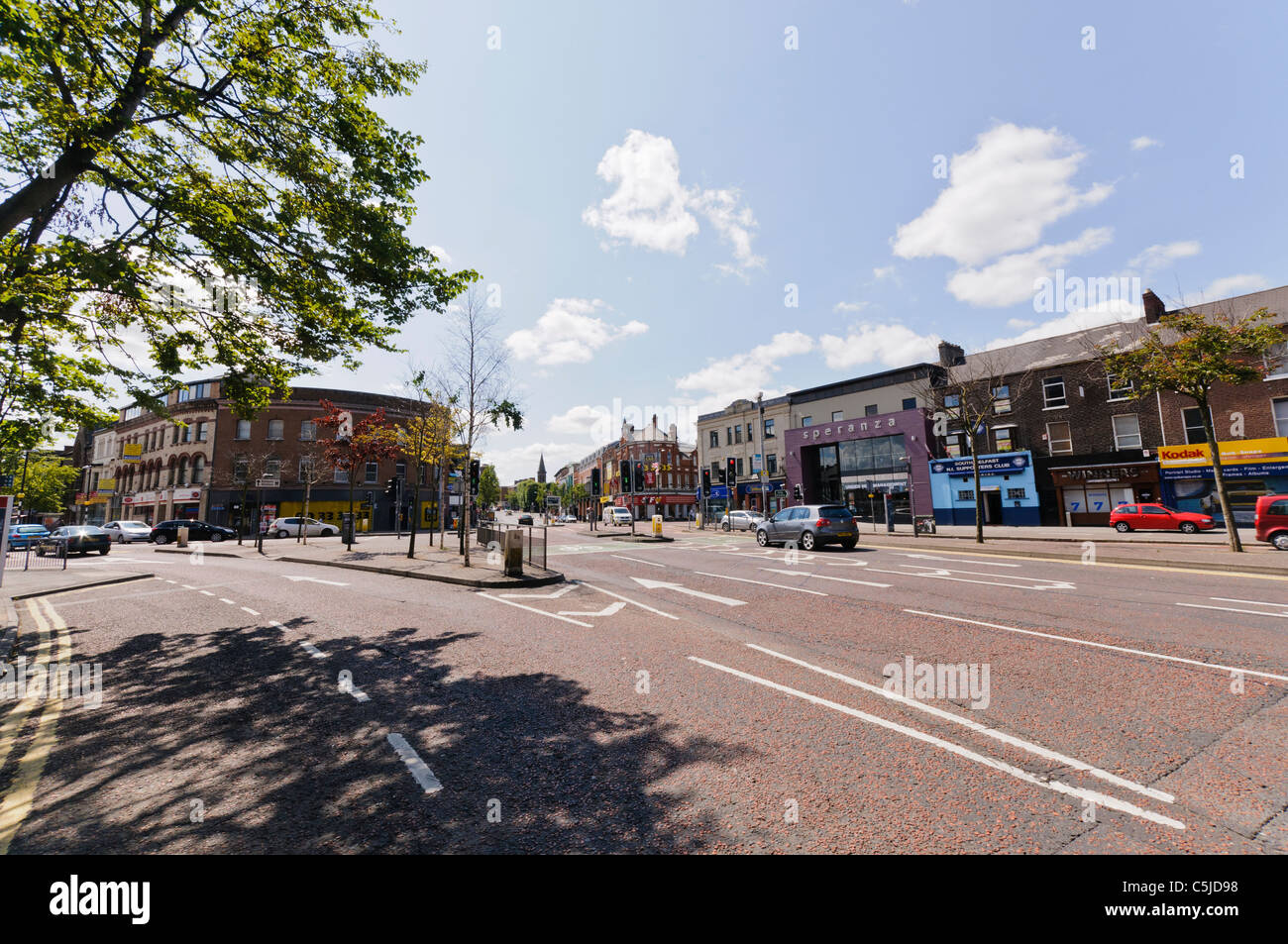 Shaftesbury Square, Belfast: the centre of Belfast's entertainment area known as 'The Golden Mile' - Stock Image