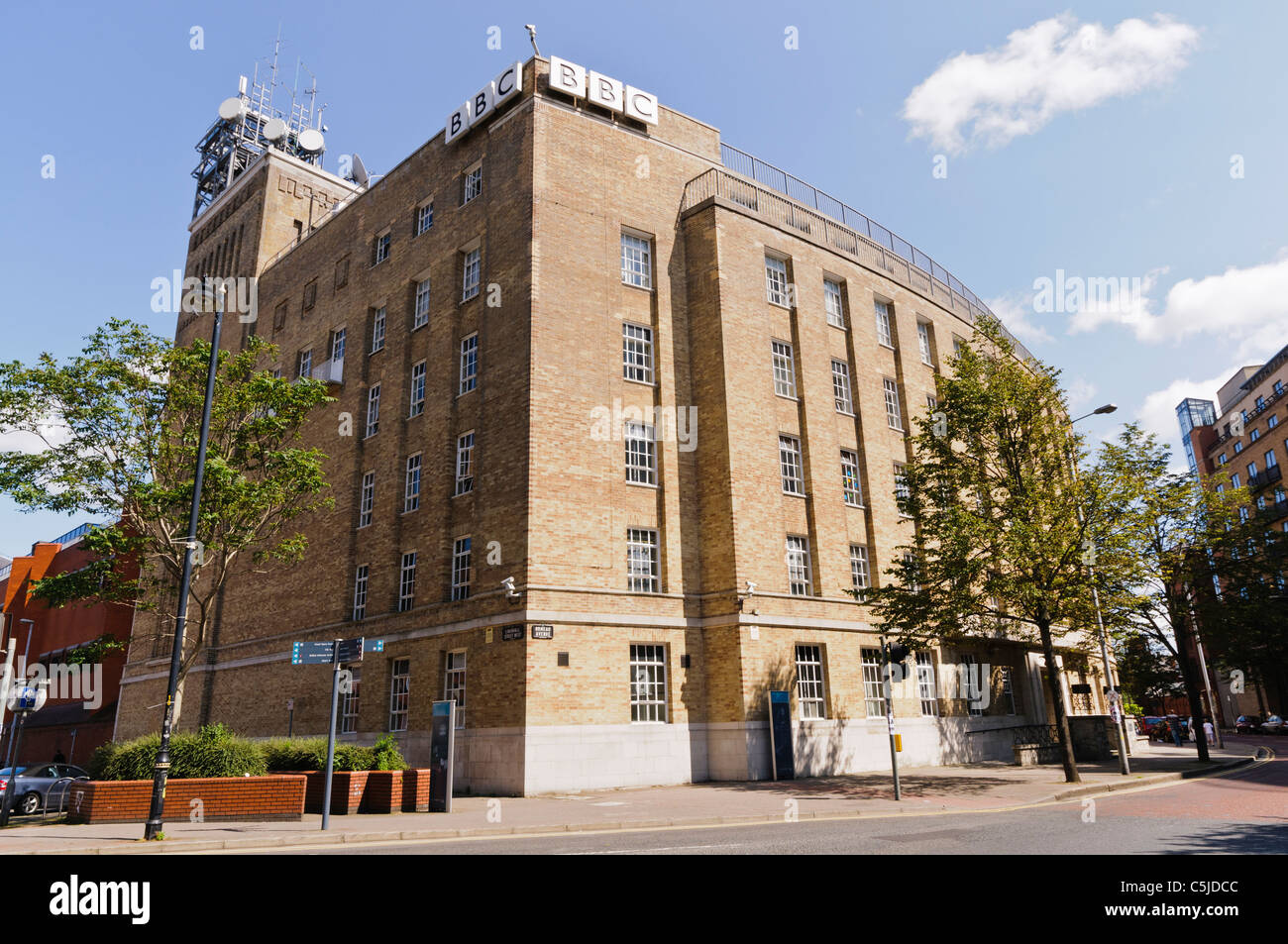 BBC Broadcasting House, Belfast - Stock Image