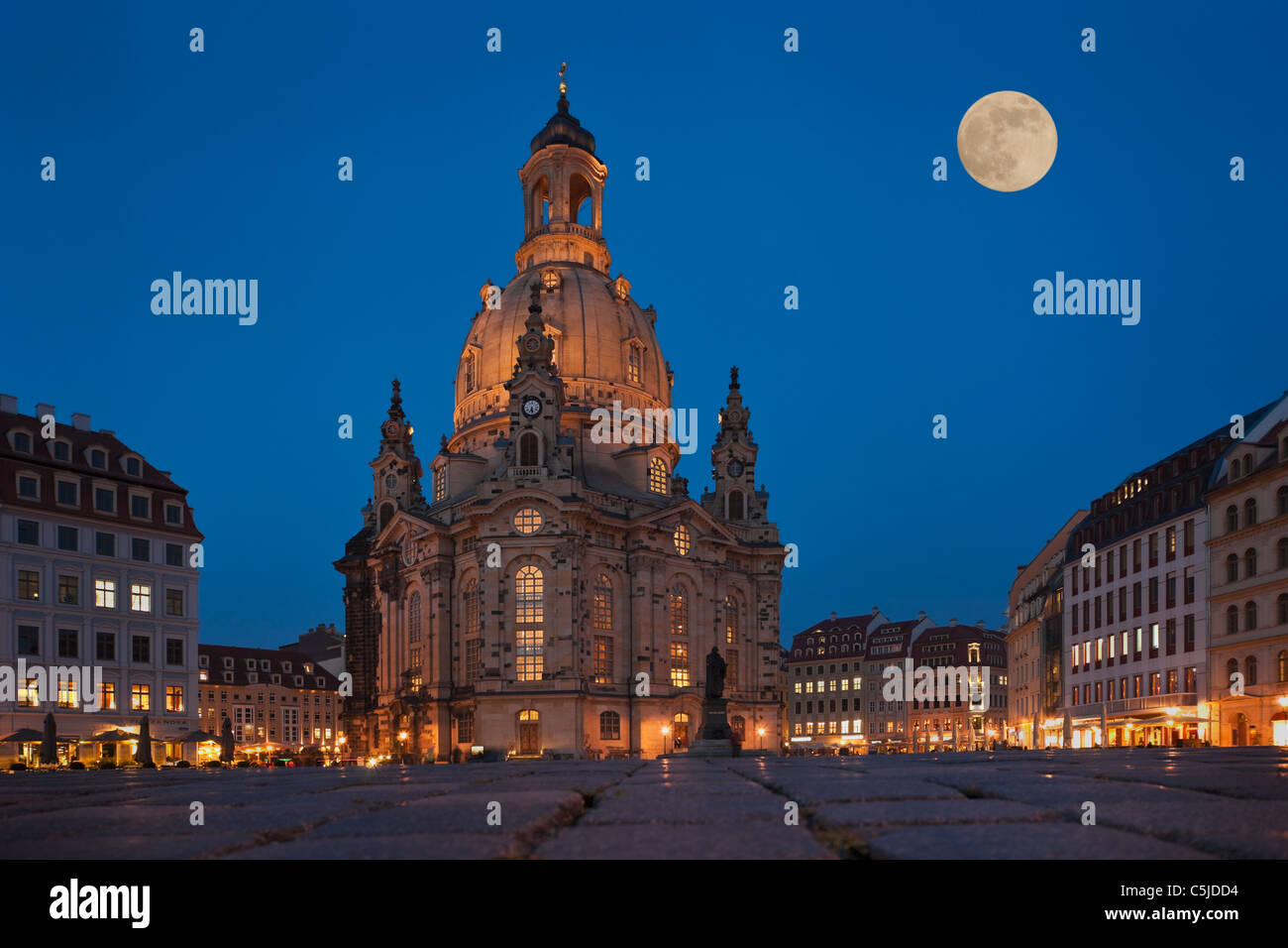 Frauenkirche Dresden | Church of Our Lady, Dresden - Stock Image