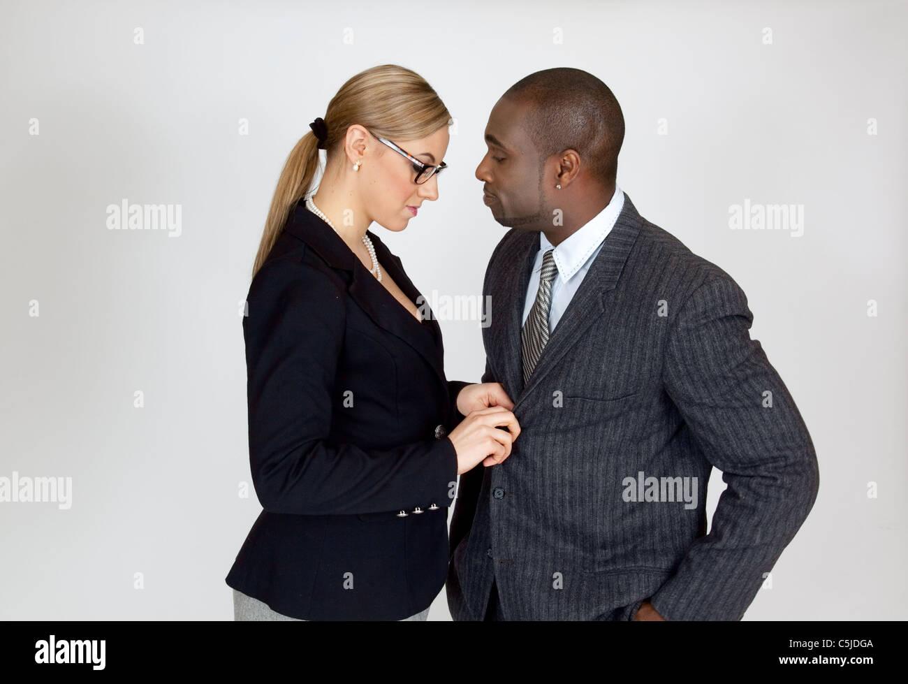 Black men and white women couples