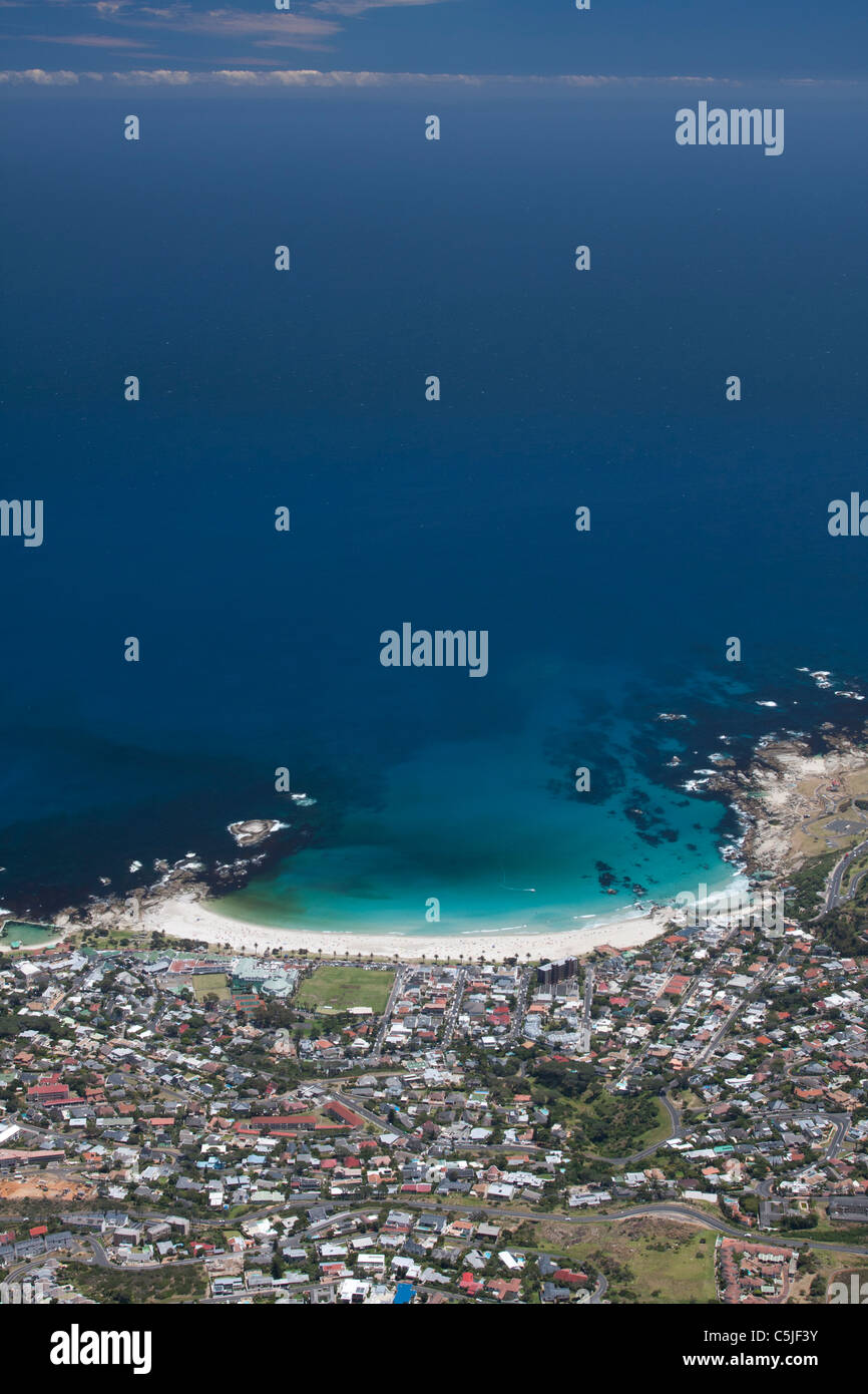 Camps Bay seen from table top mountain - Stock Image