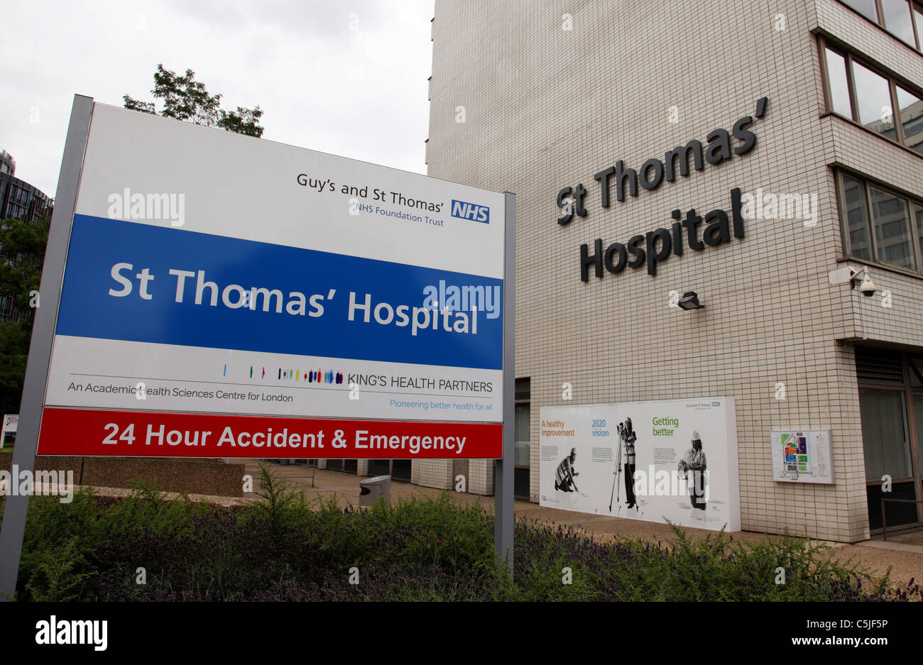 St Thomas' Hospital, Westminster, London, England, U.K. - Stock Image