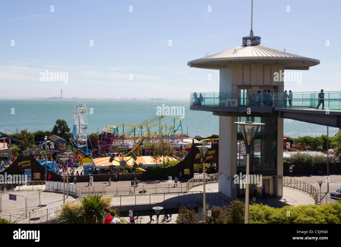 Viewpoint at Southend-on-Sea Essex - Stock Image