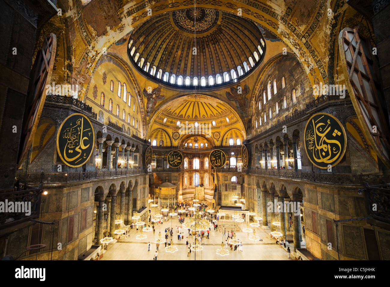 High Quality The Hagia Sophia Interior Architecture, Famous Byzantine Landmark And World  Wonder In Istanbul, Turkey.
