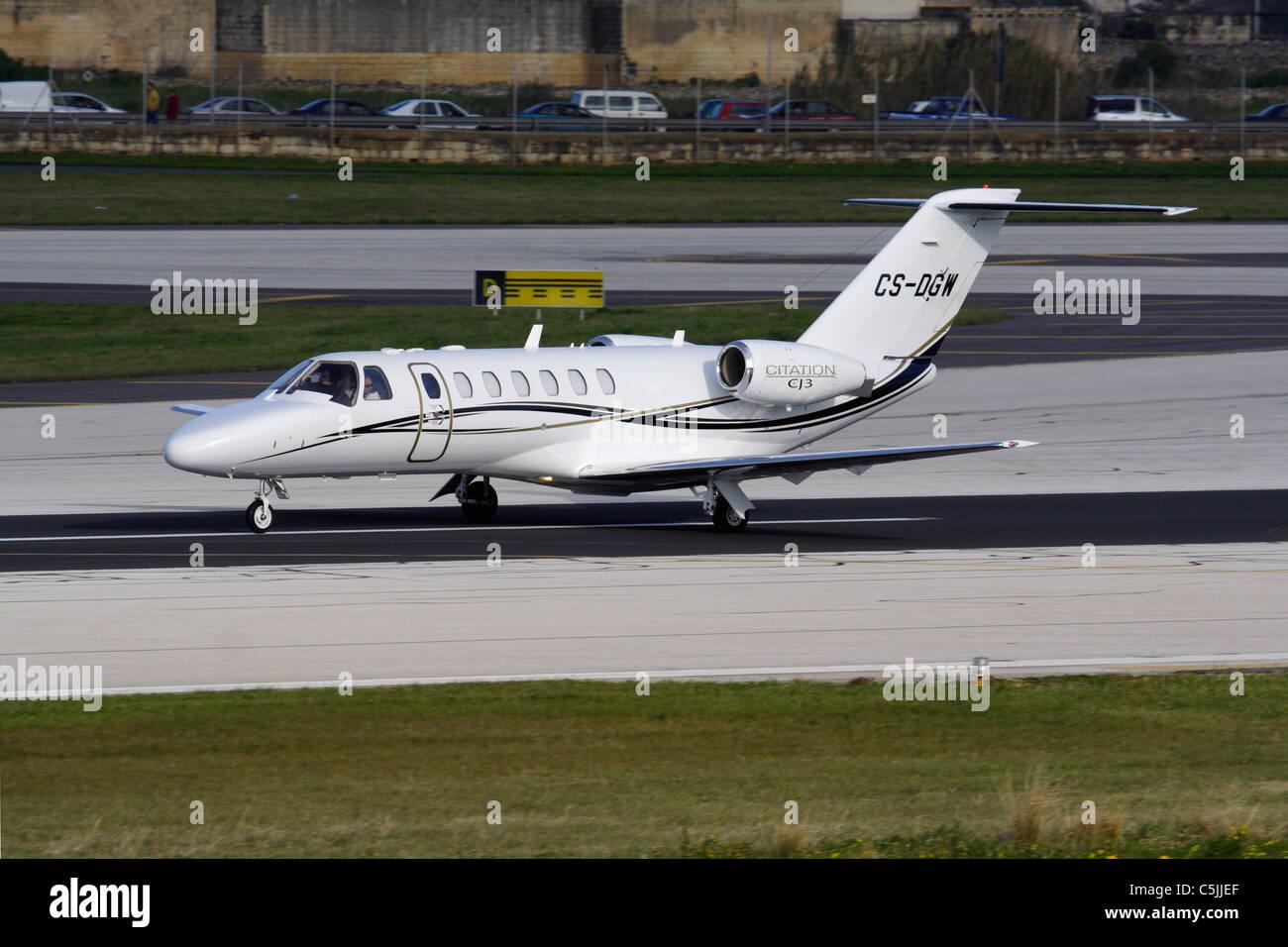 Cessna Citation CJ3 business jet - Stock Image