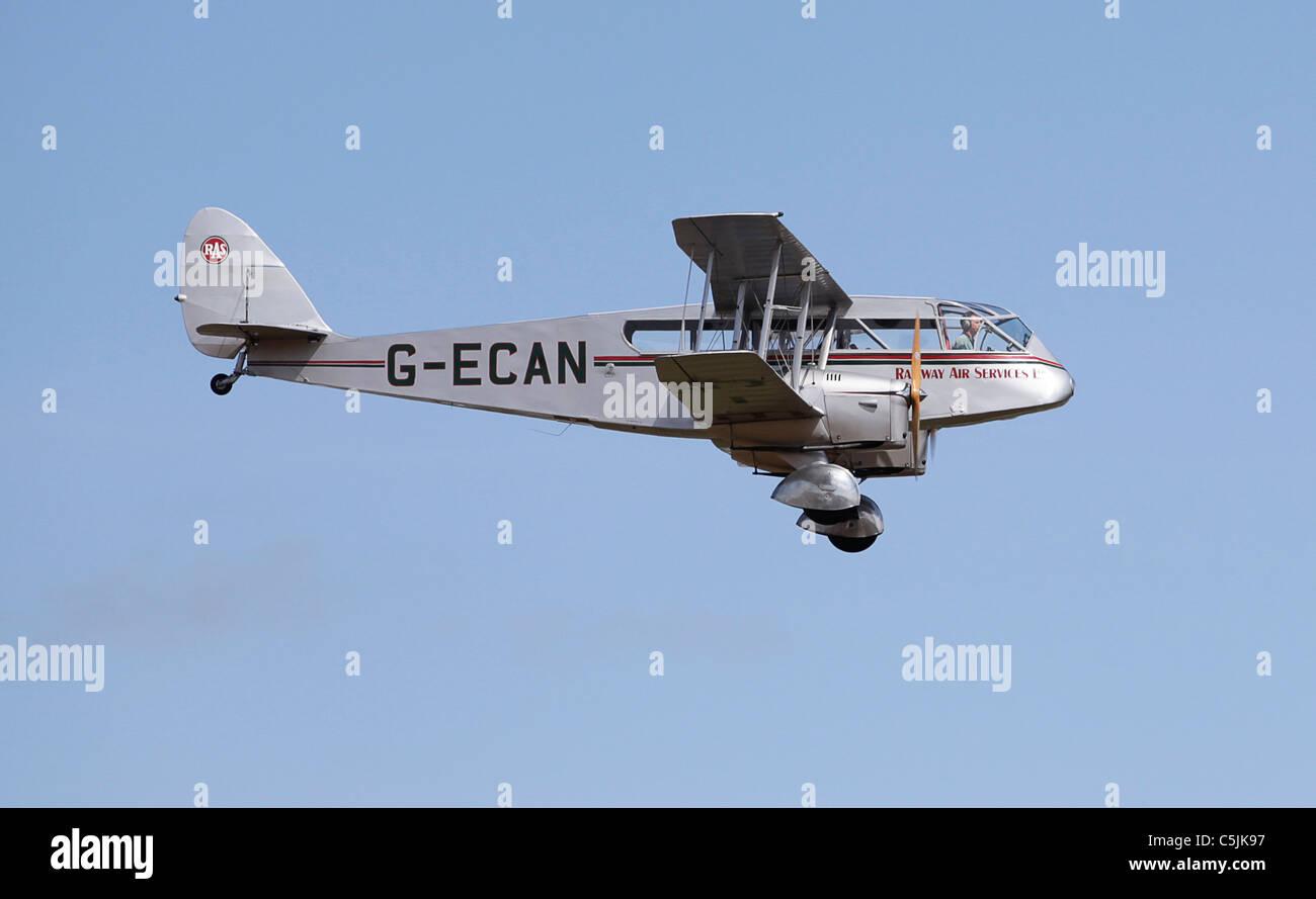 Dragon bi-plane passenger aircraft - Stock Image