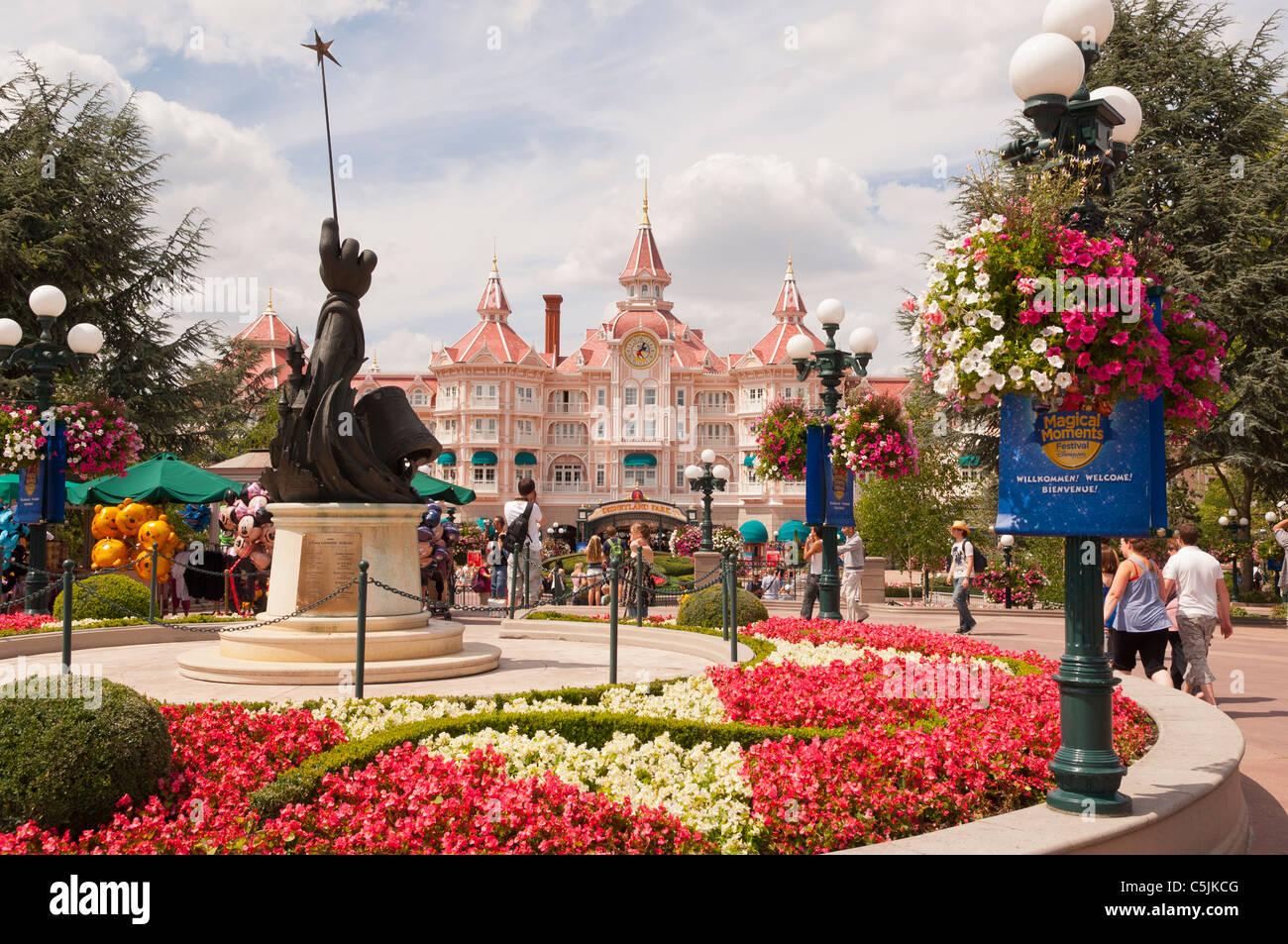 The Disneyland Hotel at Disneyland Paris in France Stock Photo