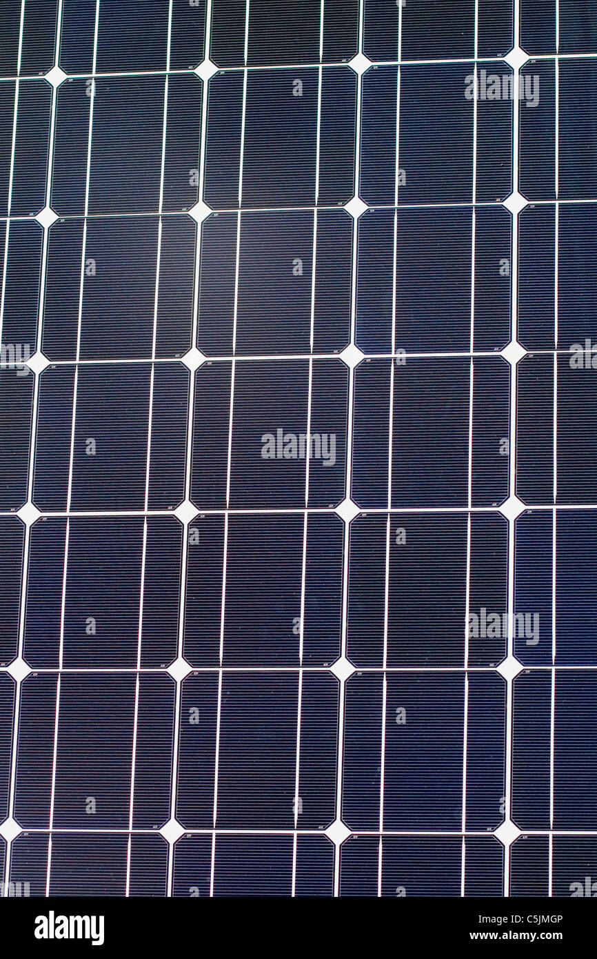 'Photovoltaic module'  Solar panel - Stock Image