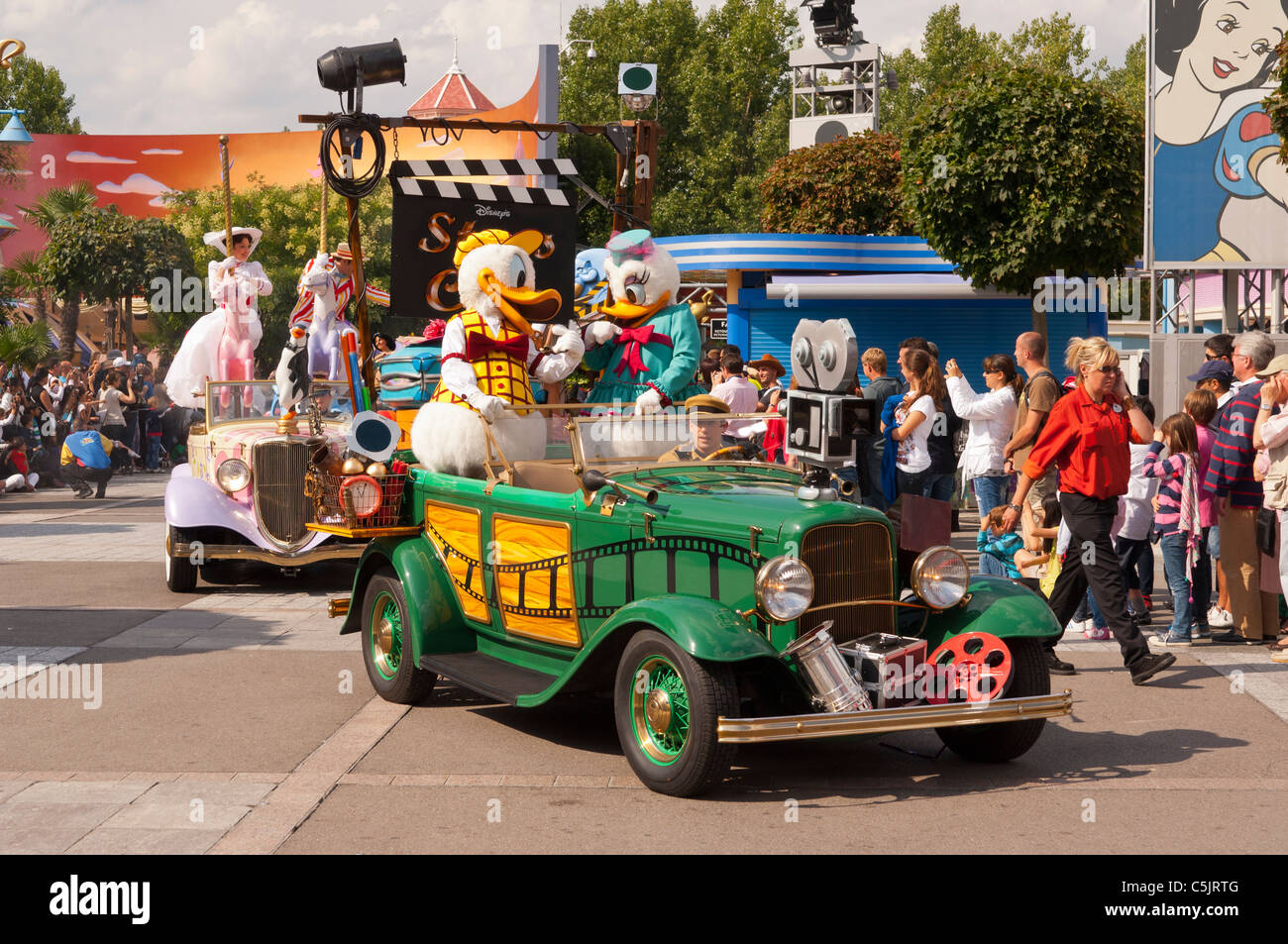 The Stars 'n' Cars parade at Disneyland Paris in France - Stock Image