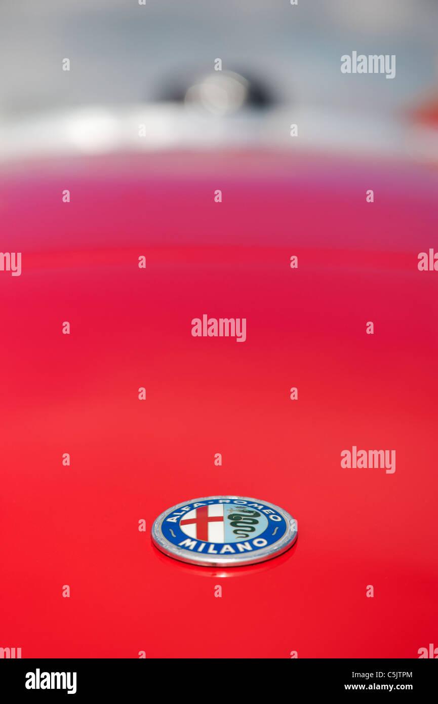 Alfa Romeo Milano car badge abstract - Stock Image
