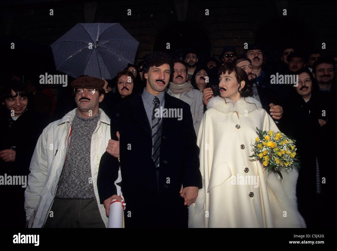 aldo giovanni and wife - Stock Image