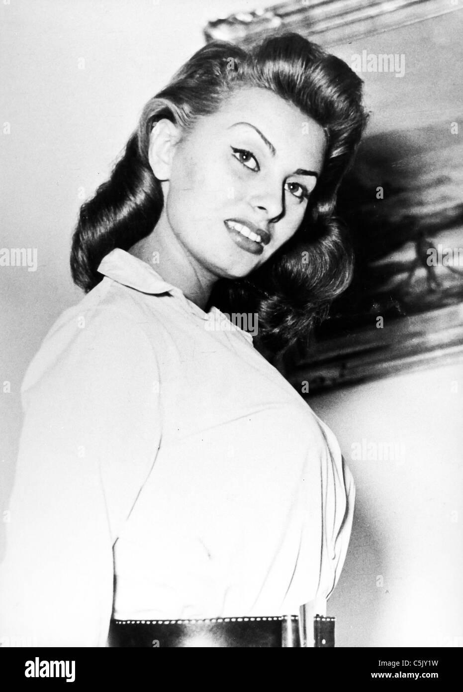 sophia loren, 1954 - Stock Image