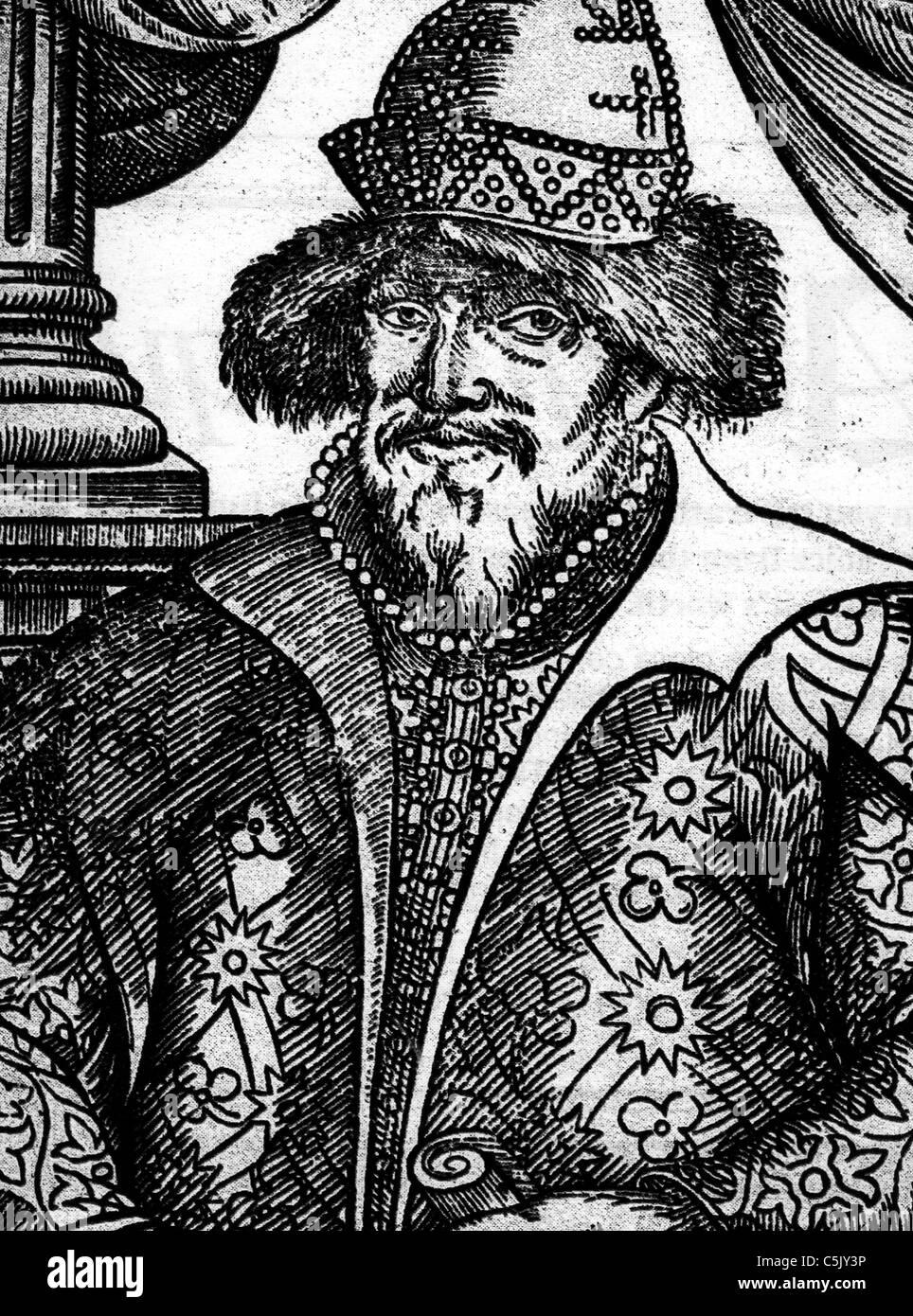 ivan the terrible, 1533-1584 - Stock Image