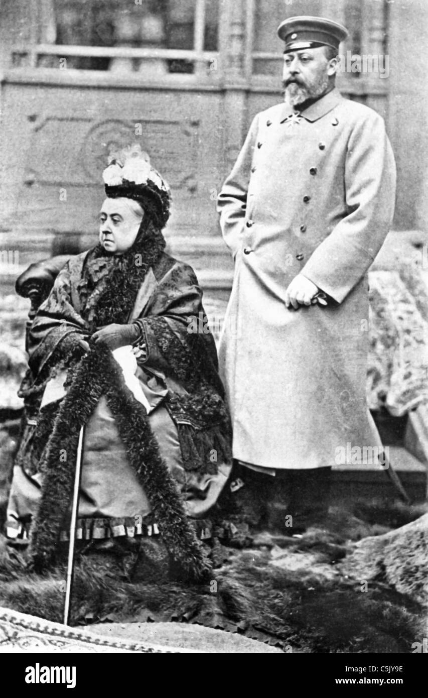 Queen Victoria with hereditary prince - Stock Image