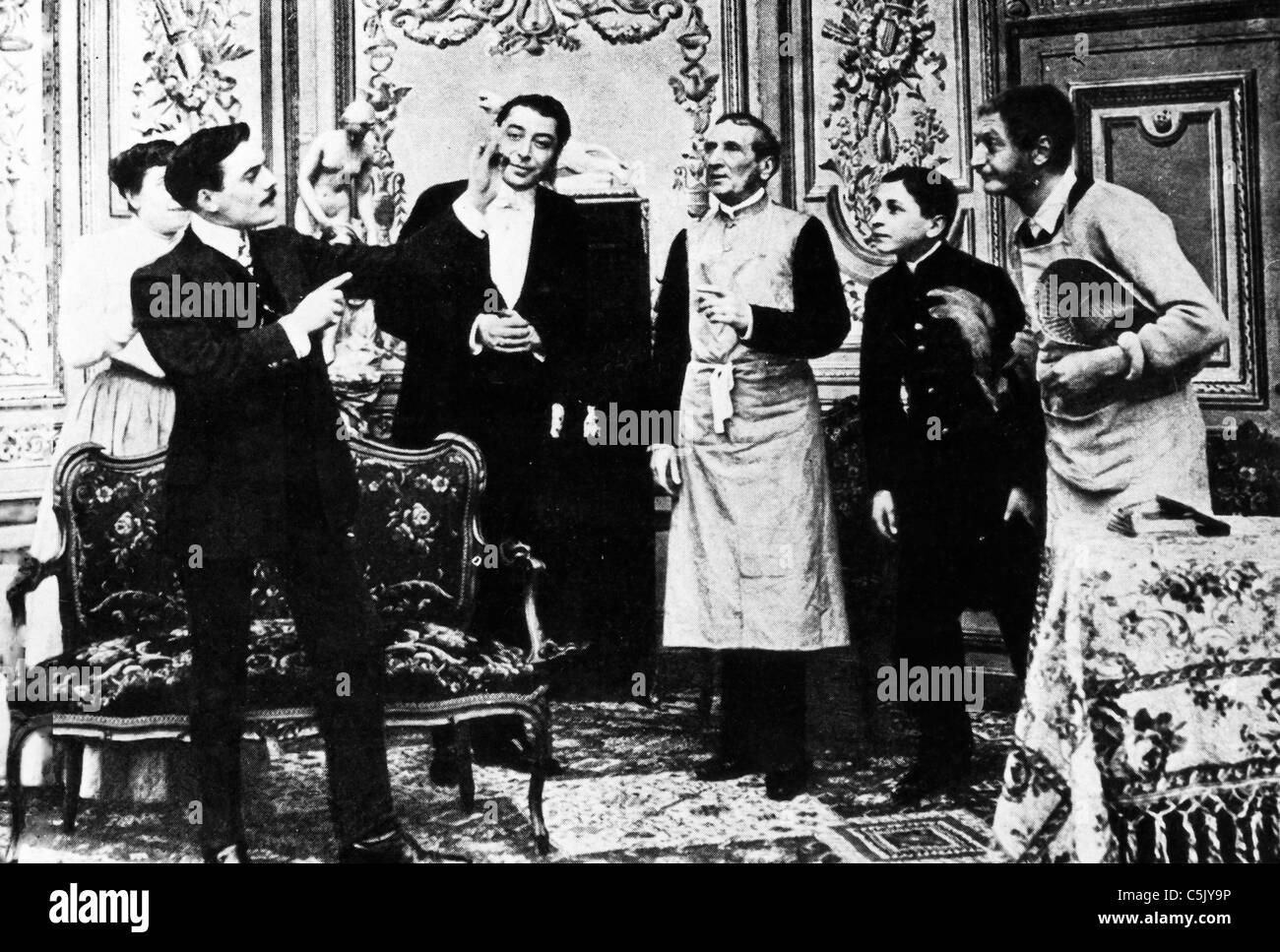 Max Linder in max illusionist 1914 - Stock Image