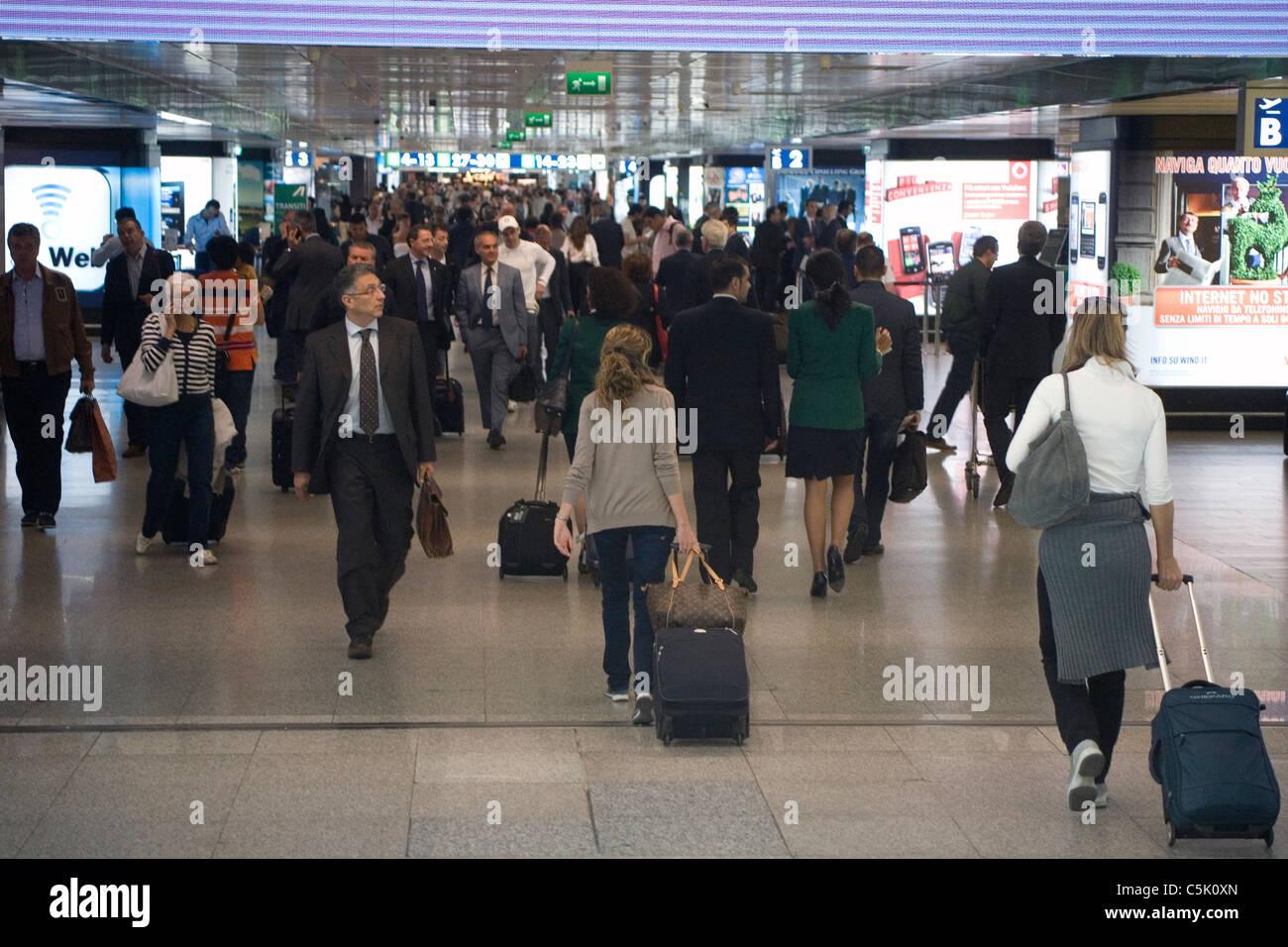 Fiumicino Airport, Rome Italy - Stock Image