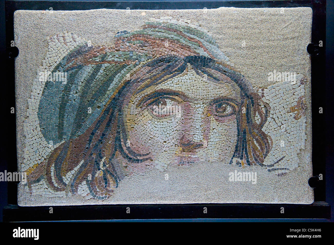 Maenad (or Gypsy Girl) Mosaic at Gaziantep Archaeology Museum, Gaziantep (Antep), Turkey Stock Photo