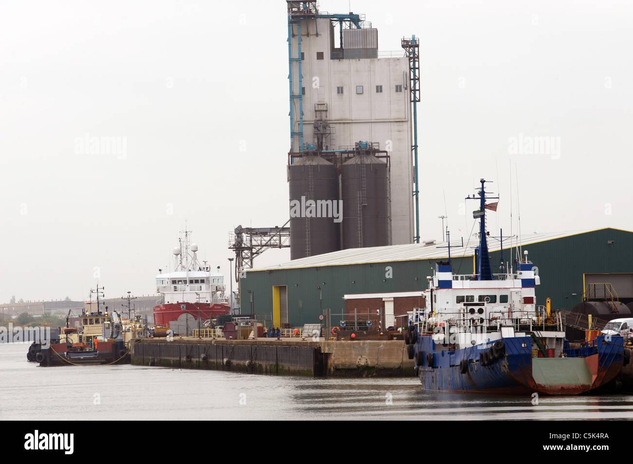Port of Lowestoft, Suffolk, UK. - Stock Image