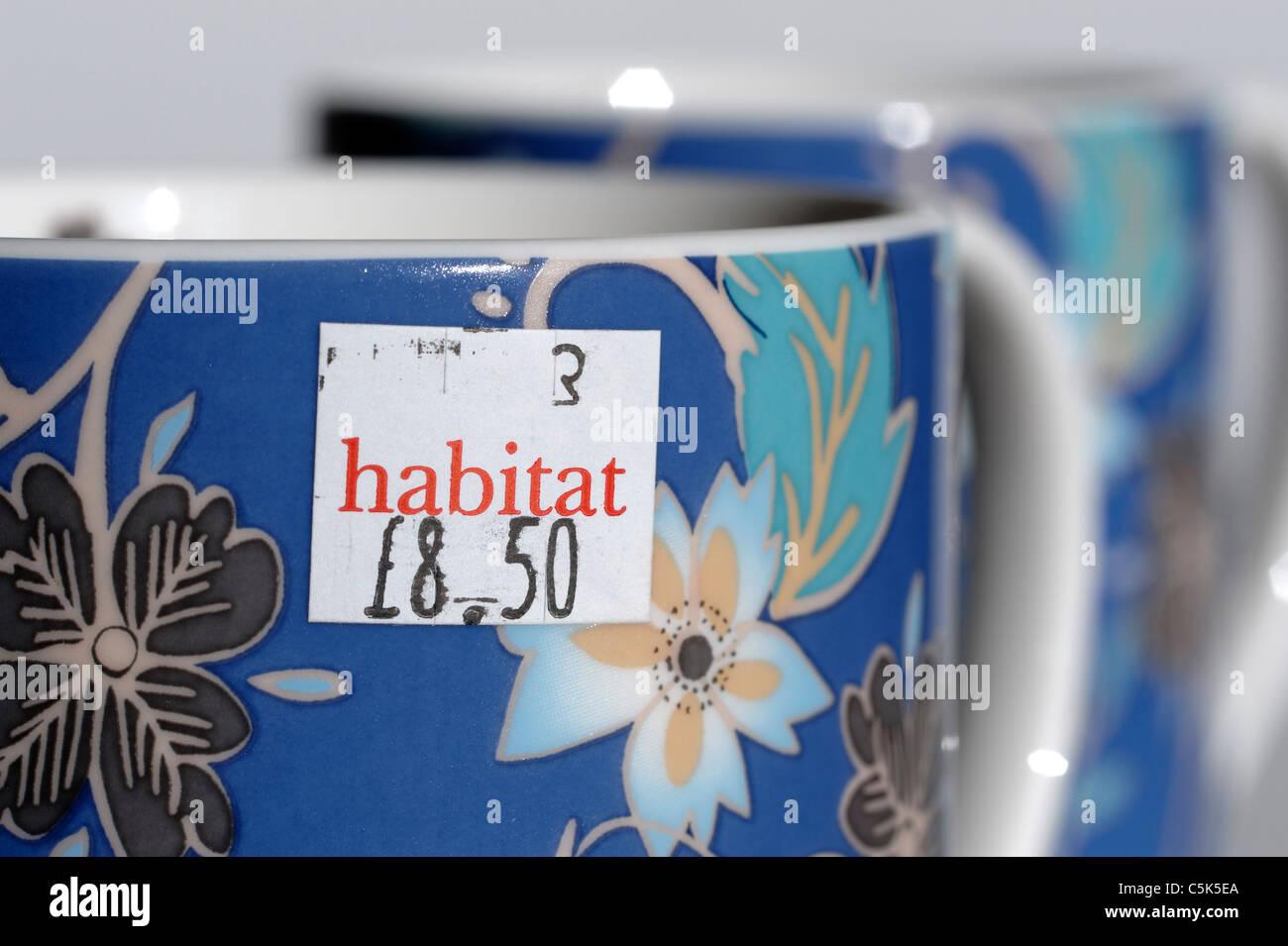 Habitat price sticker - Stock Image