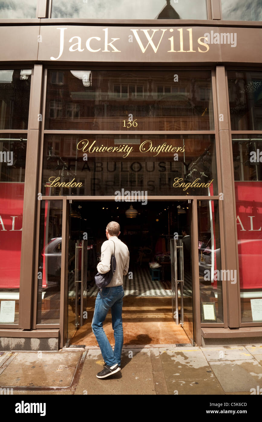 Jack Wills clothes shop or store, Long Acre, Covent garden London UK - Stock Image